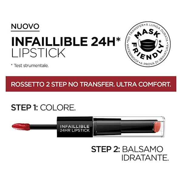 L'Oréal Infaillible Lipstick 2 Step 24H - 801 - TOUJOURS TOFFEEE