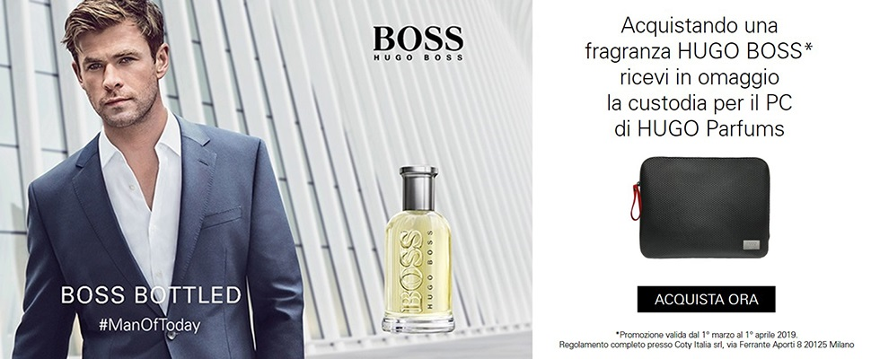 Con una fragranza HUGO BOSS