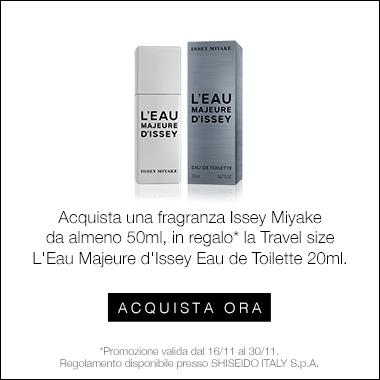 In regalo L'Eau Majeure d'Issey EDT da 20 ml