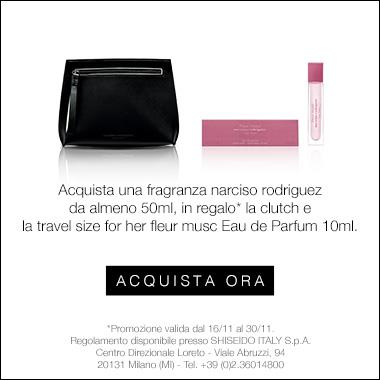 In regalo la clutch + la travel size For her Fleur musc EDP